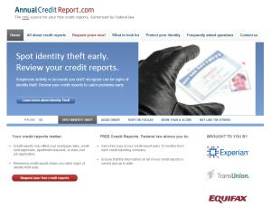 annualcreditreport.com screenshot